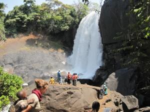 Bald angekommen: Die Main Falls der Chishimba Falls